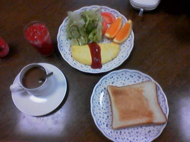 出張中の朝食