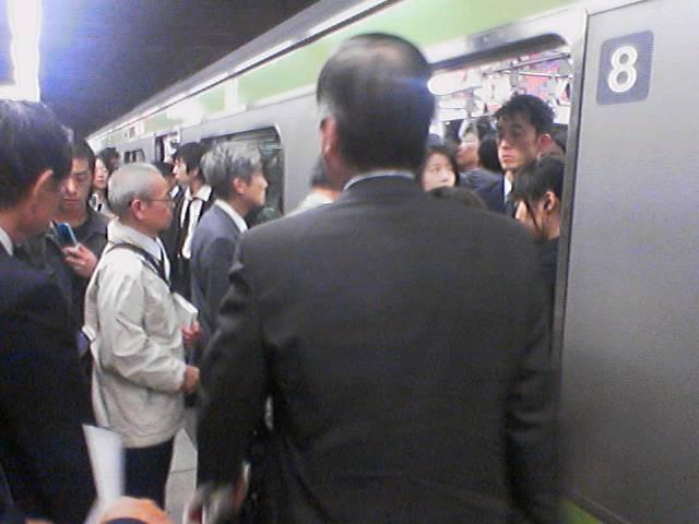 線路内に人が立ち入ったので安全の確認中です