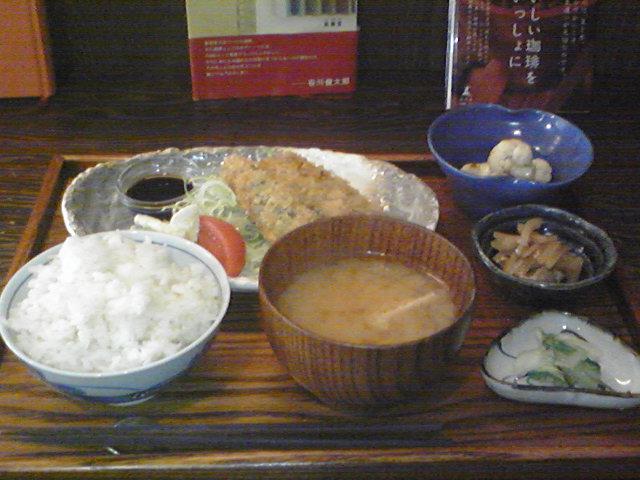11月1日 ランチ イワシのマスタードフライ定食 リトル・スター・レストラン 三鷹