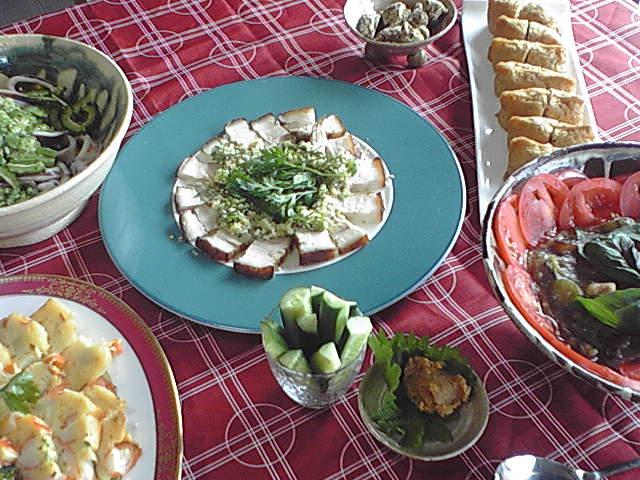 沖縄料理パーティー今回のメニュー