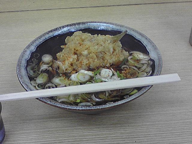 さかな天ぷら(きす)そば 古川駅