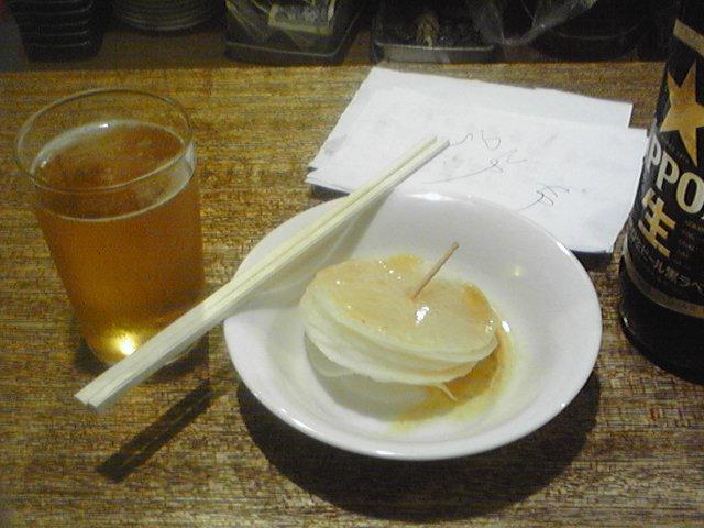 西荻窪 戎 ビールと泣きだいこん(90円)
